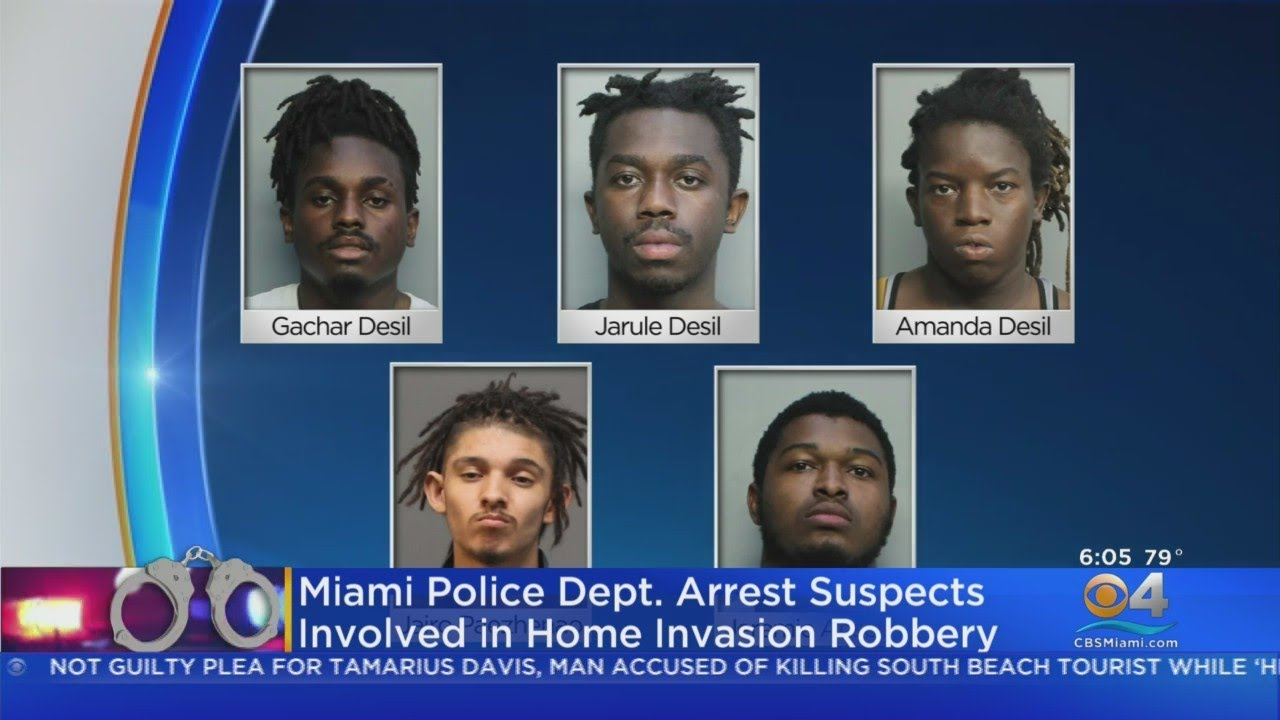 Five Charged In Miami-Dade Home Invasion